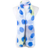 Blue Dots Pattern Premium Large Soft Lightweight All Seasons Scarve Shawl Wrap