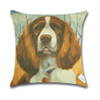 Dog Cushion Cover Waist Throw Pillow Case