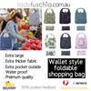 Premium Compact Wallet Stlye Foldable Shopping Bag BZD341