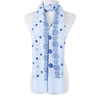 Blue Polka Dots Large Summer Scarf SC8623
