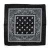 Black 100% COTTON BANDANAS Paisley Square Head Scarf BPS001