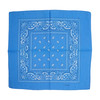 Blue 100% COTTON BANDANAS Paisley Square Head Scarf BPS001