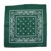 D Green 100% COTTON BANDANAS Paisley Square Head Scarf BPS001