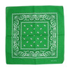 Green 100% COTTON BANDANAS Paisley Square Head Scarf BPS001