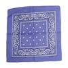 Lilac 100% COTTON BANDANAS Paisley Square Head Scarf BPS001