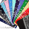 Nany 100% COTTON BANDANAS Paisley Square Head Scarf BPS001