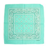 Teal 100% COTTON BANDANAS Paisley Square Head Scarf BPS001