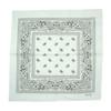 White 100% COTTON BANDANAS Paisley Square Head Scarf BPS001