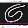 8x10mm Pink Faceted Flat Glass Crystal Beads