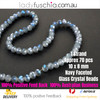 8x10mm Navy Faceted Flat Glass Crystal Beads