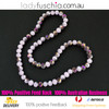 8x10mm Purple Faceted Flat Glass Crystal Beads