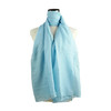 Plain L Blue Spring  Summer Lightweight Cotton Feeling Scarf SC9245