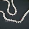 8mm White Pearl Feeling Glass Beads