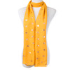 Yellow With Gold Leaf Foil Scarf SC8739