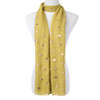 Green With Gold Leaf Foil Scarf SC8739