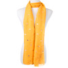 Yellow With Gold Leaf Foil Scarf SC8741