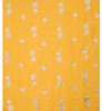 Yellow With Silver Dandelion Foil Scarf SC8742