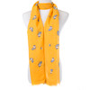Yellow Unicorn With Silve Sparkles Scarf SC8748