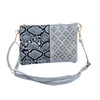 Grey Snake Skin Effect With Diamond Clover Crossboday Bag B4701