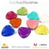 10 X Orange Heart Turquoise Beads