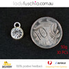 50G X Rhinestone Silver Plated Diamond Spacer Dangle Charms
