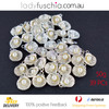 50G Pearl Silver Plated Scallop Dangle Beads