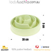 Happy Hunting Healthy Slow Feed Dog/Cat Bowl - Flower Design Green