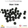 50PCs 12mm Black Round Shape Plastic Acrylic Bead Make Your Own Jewellery Craft