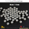 50PCs 12mm Grey Round Shape Plastic Acrylic Bead Make Your Own Jewellery Craft