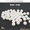 50PCs 15mm White Round Shape Plastic Acrylic Bead Make Your Own Jewellery Craft