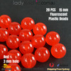20PCs 15mm Red Round Shape Plastic Acrylic Bead Make Your Own Jewellery Craft