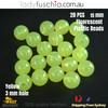 20PCs 15mm Yellow Round Shape Plastic Acrylic Bead Make Your Own Jewellery Craft