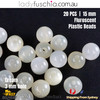 20PCs 15mm Cream Round Shape Plastic Acrylic Bead Make Your Own Jewellery Craft