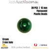 20PCs 15mm Jade Round Shape Plastic Acrylic Bead Make Your Own Jewellery Craft