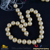 1 Strand 12mm Yellow Round Natural Premium Shell Pearl Beads approx. 33 PCs