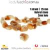1 Strand 25mm Natural Stone Orange Beads Craft Jewellery Bracelet Parts