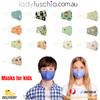 Kids Toddler Face Masks - Colourful Dinosaur