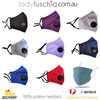 Dark Purple Washable & Reusable PM2.5 Face Mask With Respirator