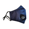 Navy Washable & Reusable PM2.5 Face Mask With Respirator