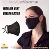 Black Washable & Reusable PM2.5 Face Mask With Respirator