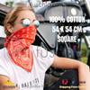 100% COTTON BANDANAS Paisley Square Head Scarf BPS060 BLACK