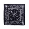 100% COTTON BANDANAS Paisley Square Head Scarf BPS060 BLACK