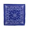 100% COTTON BANDANAS Paisley Square Head Scarf BPS060 R BLUE