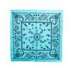 100% COTTON BANDANAS Paisley Square Head Scarf BPS061 L BLUE