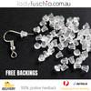 20 Pcs Silver Plated Earring Hooks, Bulk Packs, FREE Silicone Back