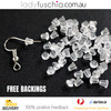50Pcs Silver Plated Earring Hooks, Bulk Packs, FREE Silicone Back