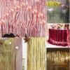 Metallic Tinsel Curtain Foil 2m - Rose Gold