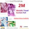 Metallic Tinsel Curtain Foil 2m - Carribean Blue