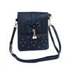 Black Butterfly Bow with Pearl Crossbody Bag