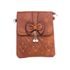 Caramel Butterfly Bow with Pearl Crossbody Bag